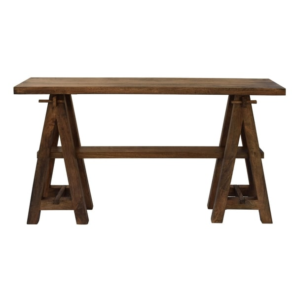Shop Bengal Manor Mango Wood A Frame Narrow Console Table