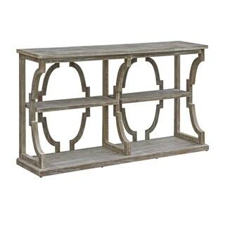 Stockton Chestnut Wash 3-tier Open Console Table
