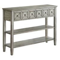 Bledsoe White Ash 2-drawer Console Table