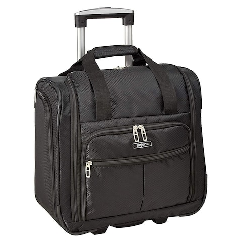 Deluxe Lightweight 15-Inch Underseat Rolling Carry-On Tote Bag