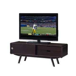 Urban Designs Stylish Wood 55-Inch TV Stand With Door And Storage