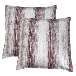 Set of 2 20x20 Christopher Metallic Jacquard Pillow