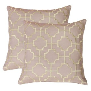Set of 2 Tonianne Embroidered Geo Pillow