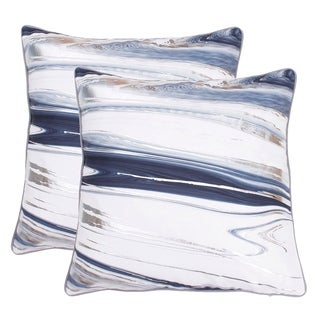 Set of 2 20x20 Kia Marble Raised Foil Pillow