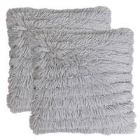 Set of 2 20x20 Effie Faux Fur Long Pile Pillow