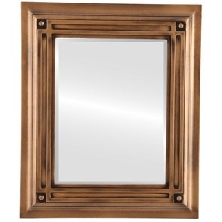 Imperial Framed Rectangle Mirror in Sunset Gold  with Gold