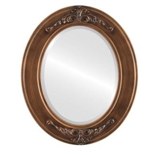 Ramino Framed Oval Mirror in Sunset Gold