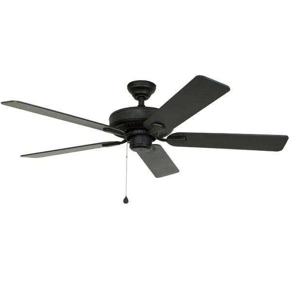 Harbor Breeze Ceiling Fan 52 In Black Indoor Outdoor Downrod Mount