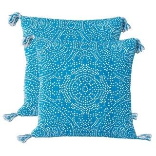 Set of 2 20x20 Reversible Kerra Dot Pillow