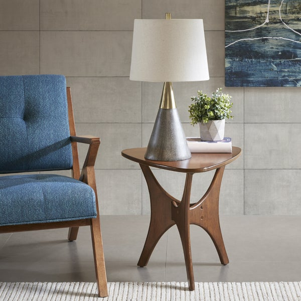 INK+IVY Broome Grey/ Gold Table Lamp
