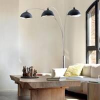 Luna Bella Three-Light Arc Lamp/ Antique Nickel