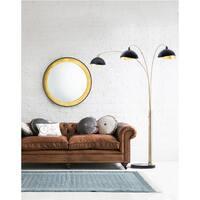 Luna Bella Three-Light Arc Lamp, Weathered Brass
