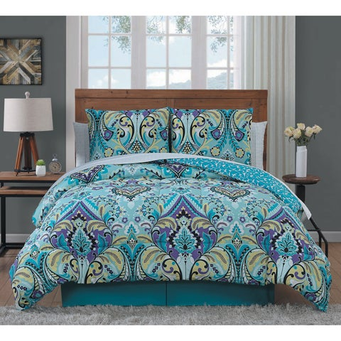 Misha Colorful Paisley Bed in a Bag - Mint