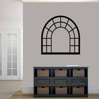 Arched Window Frame Wall Decal