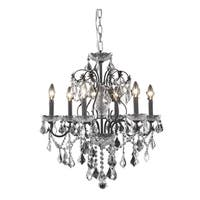 Fleur Illumination 6 light Dark Bronze Chandelier