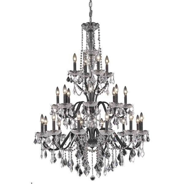 Fleur Illumination 24 light Dark Bronze Chandelier