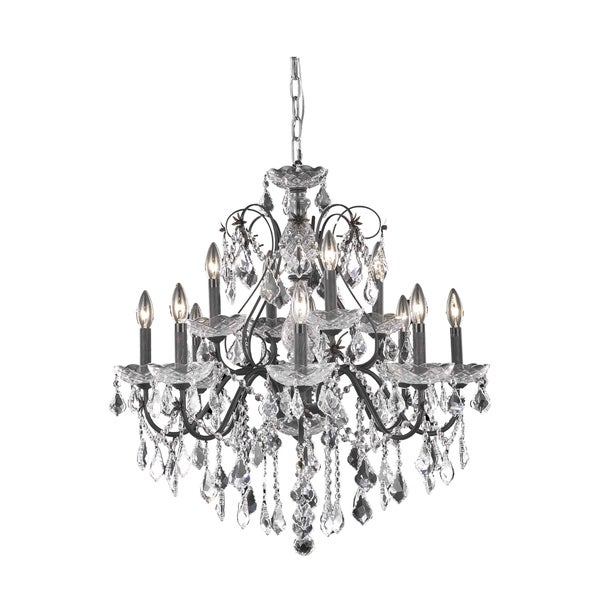 Fleur Illumination 12 light Dark Bronze Chandelier