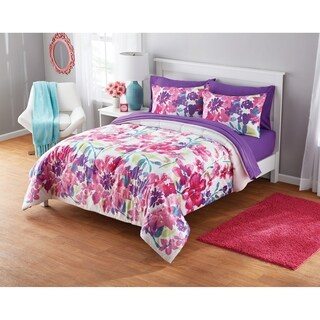 Watercolor Floral Comforter Set