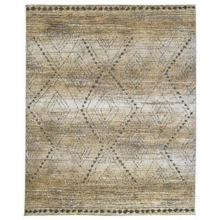 Furniture of America Denmark Contemporary Geometric Tan Rug