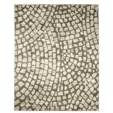 Furniture of America Evie Contemporary Recycled Grey Shag Rug - 5'3 x 7'6