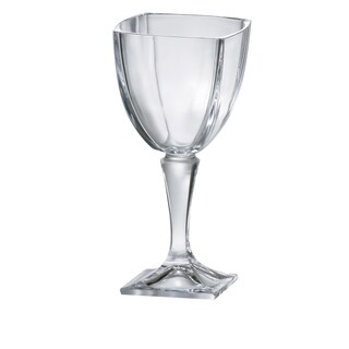 Majestic Gifts European Square Footed Water/Wine Goblet-11oz.-S/6