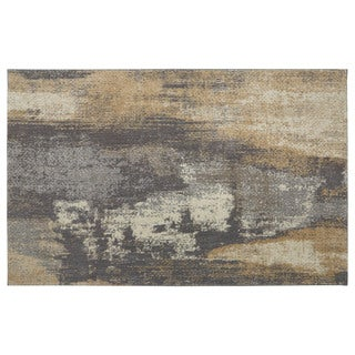 Furniture of America Evie Contemporary Recycled Tan & Grey Shag Rug