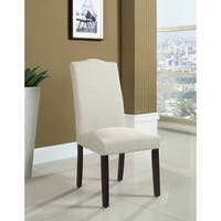 Best Master Furniture Natural Fabric Side Chairs (Set of 2)