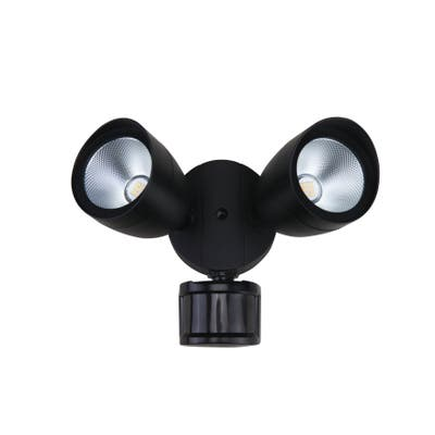 LED Security Lights, 5000K, 270?, CRI80, ES, UL, 20W, 120W Equivalent, 50000Hrs, LM1400, Dimmable, Black