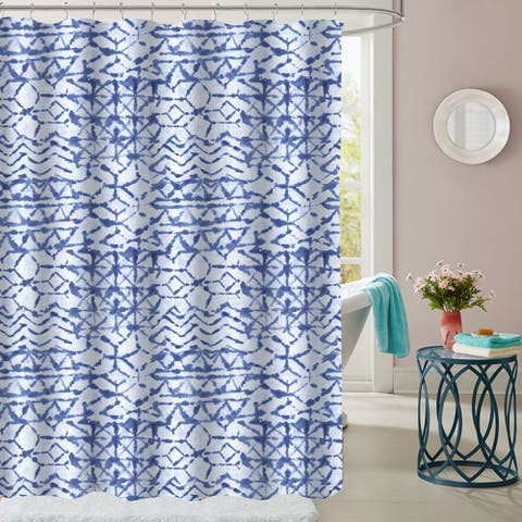 "McKenzie Patterned Fabric Shower Curtain (70""x72"")"
