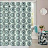 "Ashley Patterned Fabric Shower Curtain (70""x72"")"