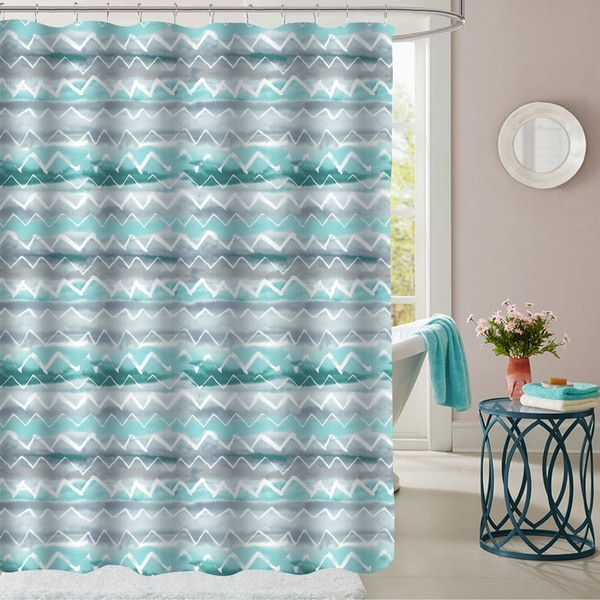 Summerset Patterned Fabric Shower Curtain 70x72