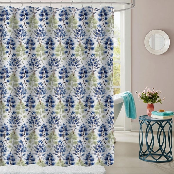 Shop Florence Patterned Fabric Shower Curtain 70x72 On Sale
