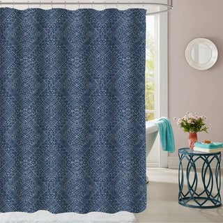 "Parkview Patterned Fabric Shower Curtain (70""x72"")"