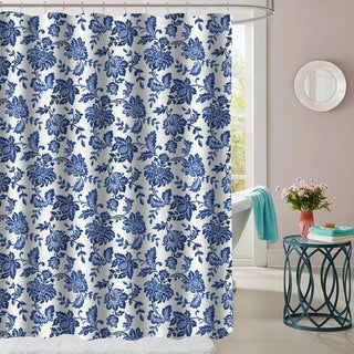 "Tuscany Patterned Fabric Shower Curtain (70""x72"")"