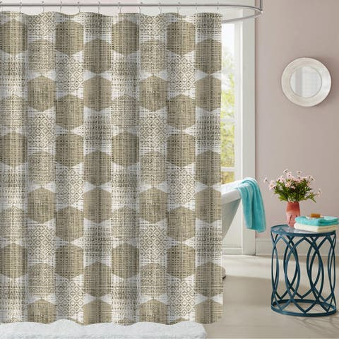"Monaco Patterned Fabric Shower Curtain (70""x72"")"