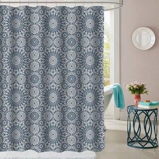"Oasis Patterned Fabric Shower Curtain (70""x72"")"