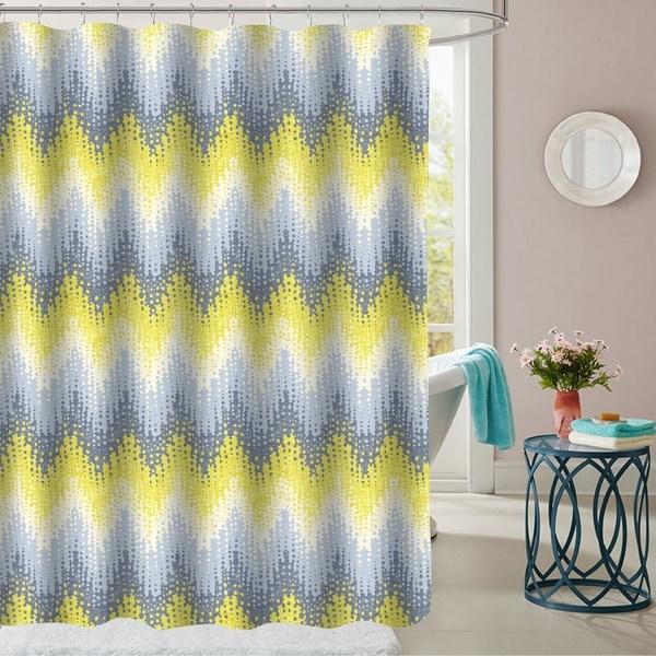 Malibu Patterned Fabric Shower Curtain ...