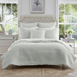 Five Queens Court Hattie Striped Cotton Quilt