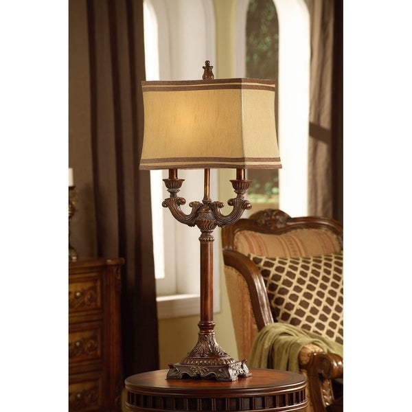 Lisle Taupe Washed Bronze 37-inch Table Lamp