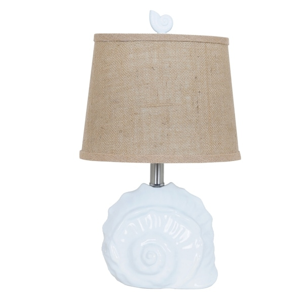 Shell White 19-inch Accent Lamp