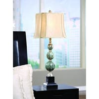 Savoy Blue Stone and Black 35.5-inch Table Lamp