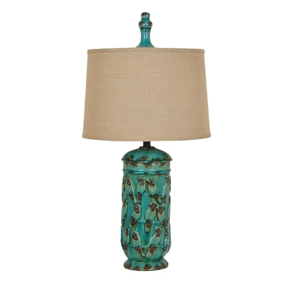 Song Bird Antique Turquoise 34-inch Table Lamp