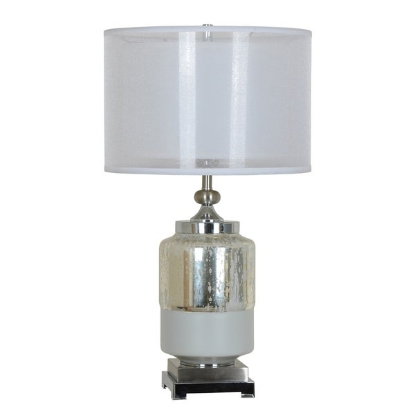 Salon Optic Glass and Chrome 27-inch Table Lamp