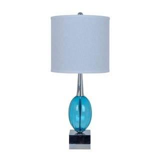Oricle Blue and Chrome 30-inch Table Lamp