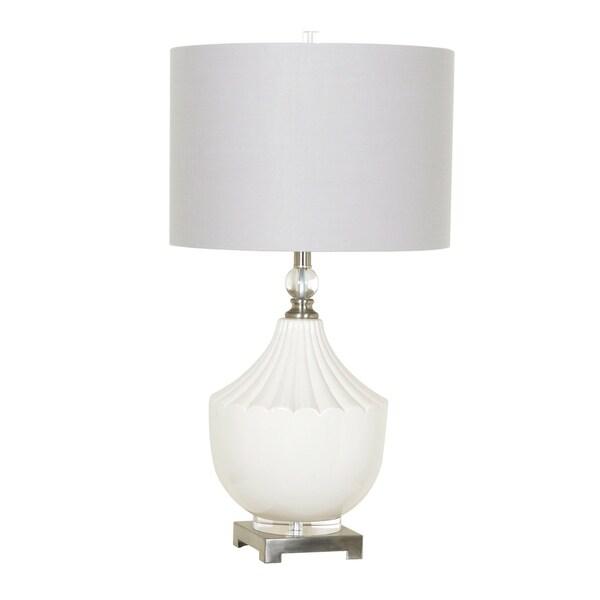 Mackenzie White 30-inch Table Lamp