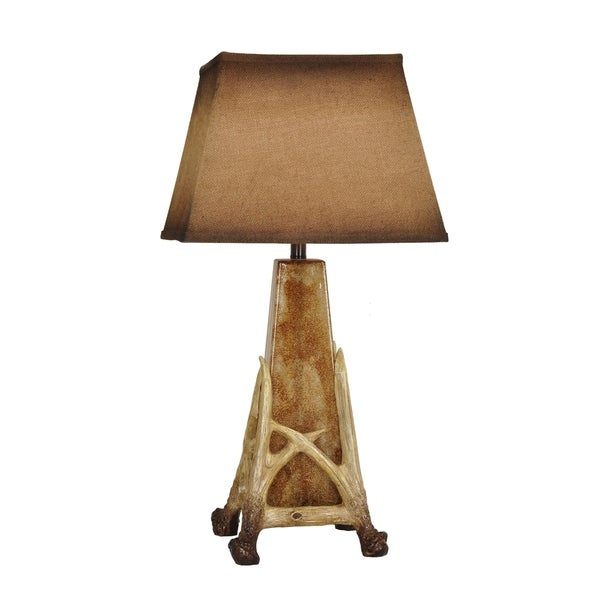 Antler Cage Antler and Antique Glass 31.5-inch Table Lamp