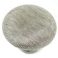 "1 1/2"" Vanilla Thumbprint Knob - Polished Nickel"