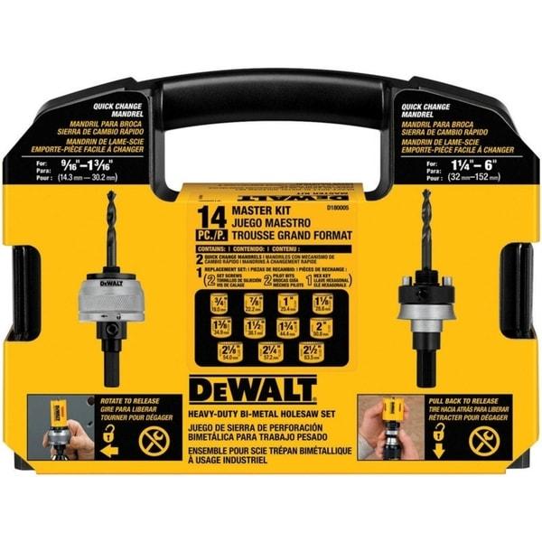 DeWalt Bi-Metal Hole Saw Kit