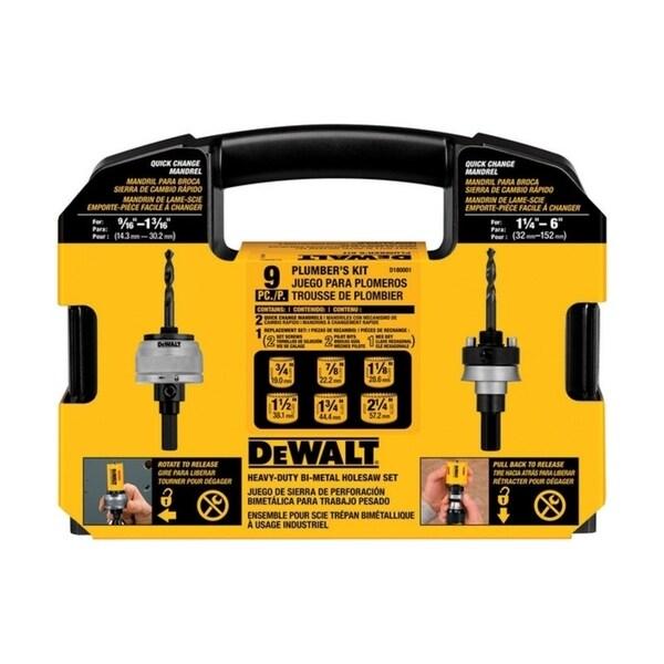 Shop Dewalt Bi Metal Plumber S Hole Saw Kit Free