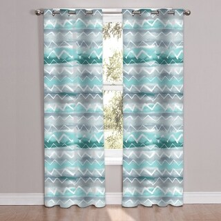 """Summerset Patterned Window Curtain Panel Pair (84""""x38"""")"""